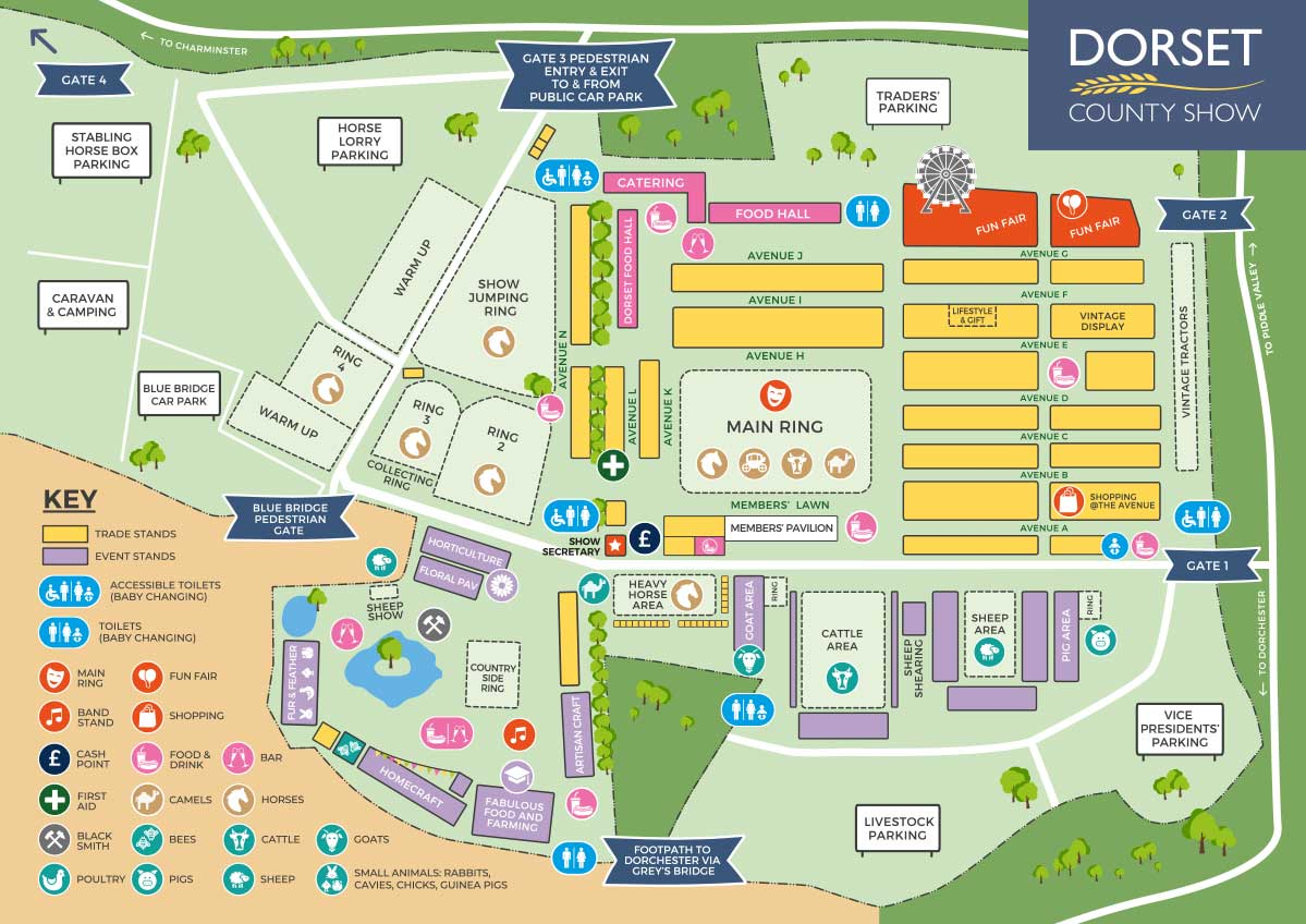 2018 Dorset County Show Map