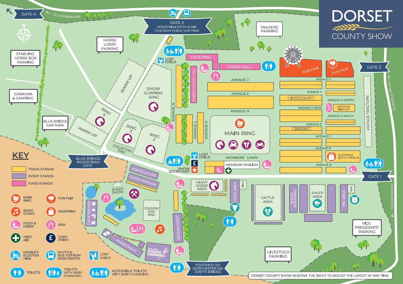 2018 Dorset County Show - Showground Map